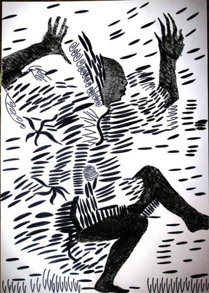 Drawing - Kuduro Dance - Angola by Gloria Ssali
