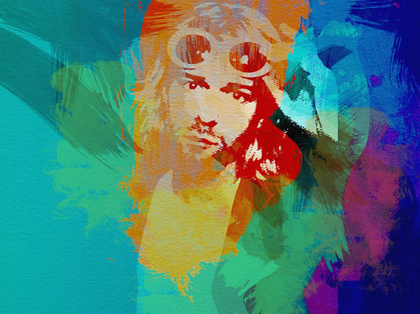 Grunge Music Wall Art - Painting - Kurt Cobain by Naxart Studio