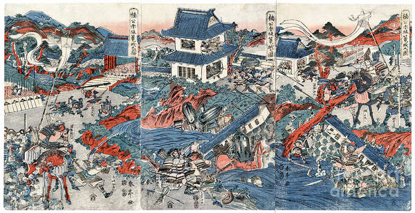 Feudal Japan Wall Art - Photograph - Kusunoki Masashige by Granger