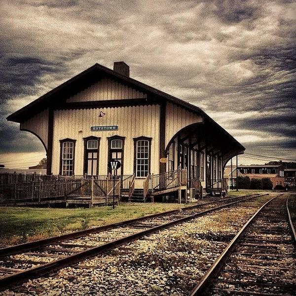 Old Wall Art - Photograph - Kutztown Train Station. #kutztown by Luke Kingma