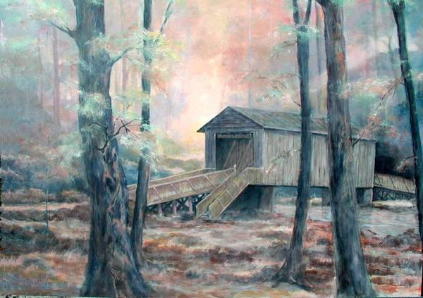 Painting - Kymulga Covered Bridge by Gary Partin