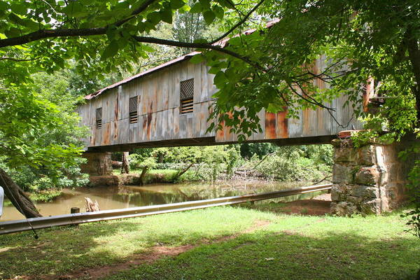 Photograph - Kymulga Covered Bridge by Mike Ivey