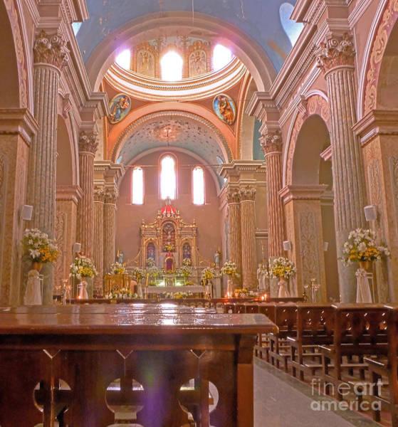 Photograph - La Iglesia Matriz De Sangolqui Ecuador by Julia Springer