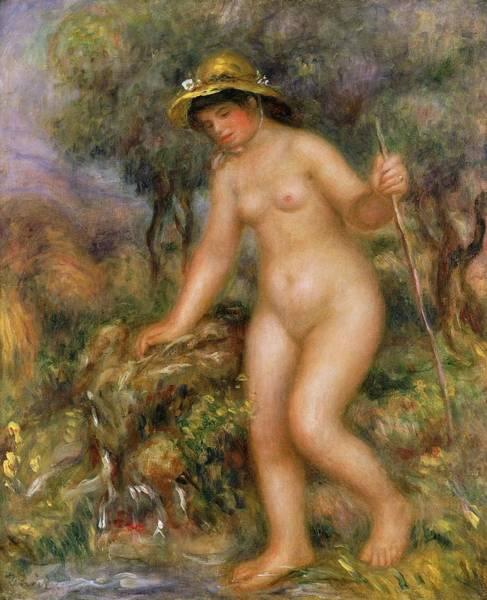 Wall Art - Painting - La Source Or Gabrielle Nue by Pierre Auguste Renoir