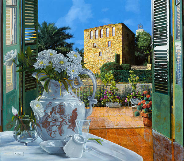 With Wall Art - Painting - La Tour Carree In Ste Maxime by Guido Borelli
