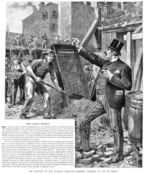 Delegation Photograph - Labor Despot, 1889 by Granger