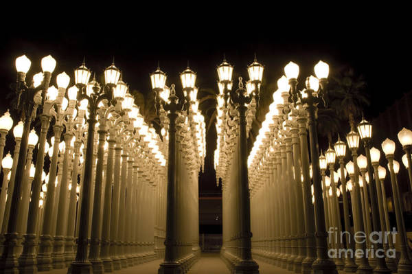 Los Angeles California Photograph - Lacma Light Exhibit In La by Micah May