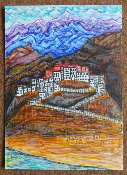Endless Painting - Ladakh by Shafiq-ur- Rehman