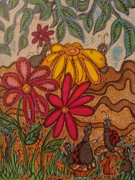 Lady Bug Drawing - Lady Bug Lounge by Gerri Rowan