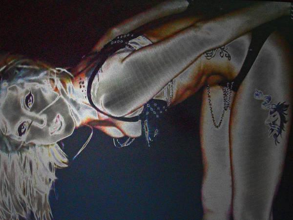 Photograph - Lady Gaga V9 by Cyryn Fyrcyd