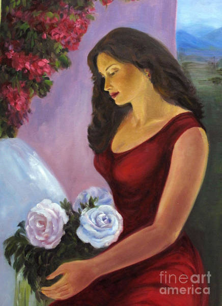 Painting - Lady In Red by Asha Sudhaker Shenoy