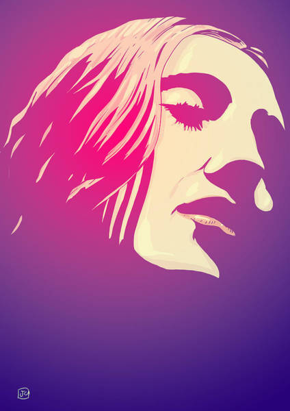 Wall Art - Drawing - Lady In The Light by Giuseppe Cristiano