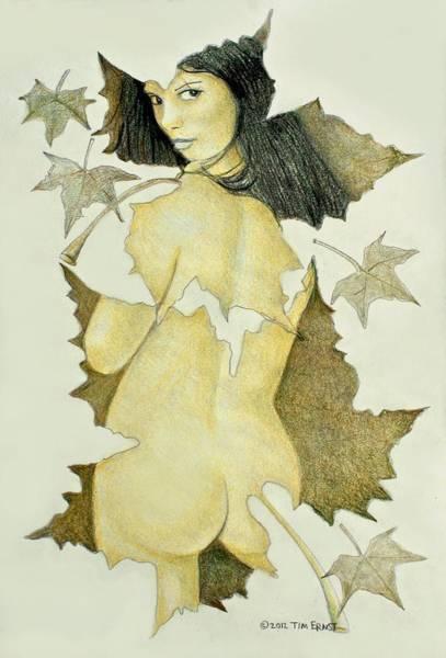 Lady Of The Leaf 4 Art Print