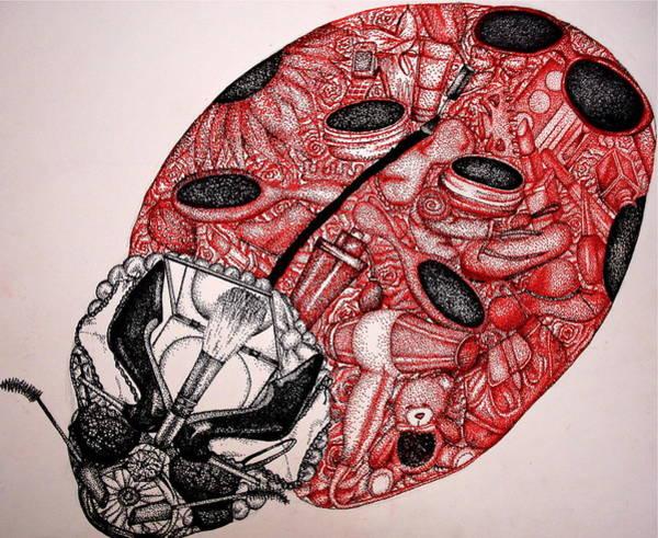 Lady Bug Drawing - Ladybug by Lauren Webb