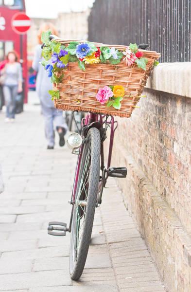Flowers Bike Wall Art - Photograph - Lady's Bike by Tom Gowanlock