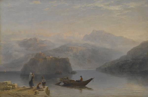Atmospheric Painting - Lago Maggiore by James Baker Pyne