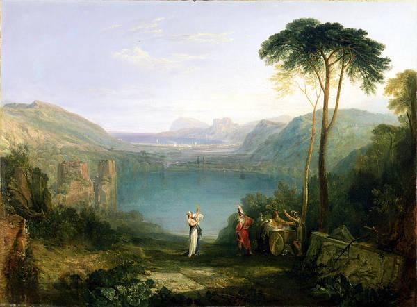 1851 Photograph - Lake Avernus - Aeneas And The Cumaean Sibyl by Joseph Mallord William Turner