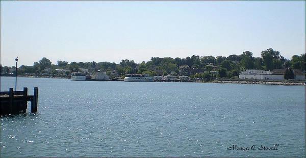 Photograph - Lake Huron Shoreline Collection - St. Ignace Mi Harbor by Monica C Stovall
