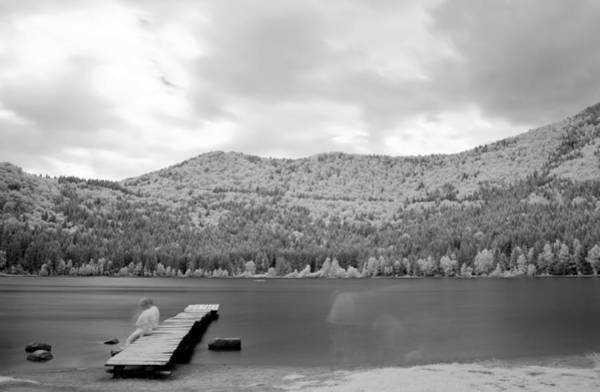 Photograph - Lake In Infra Red Spectrum by Odon Czintos
