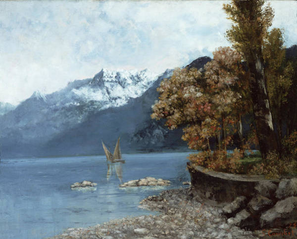 Lemans Wall Art - Painting - Lake Leman by Gustave Courbet