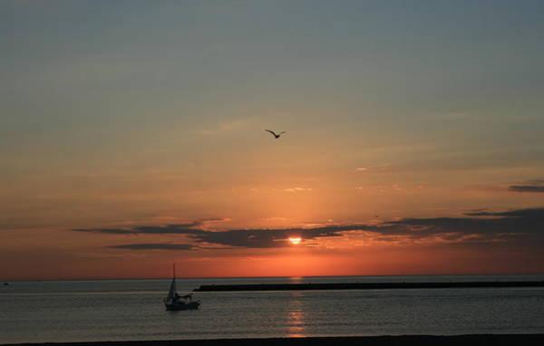 Photograph - Lake Michigan Sun Rise by Kay Novy