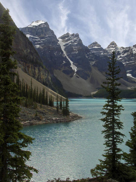 Wall Art - Photograph - Lake Moraine - Banff National Park by Daniel Hagerman