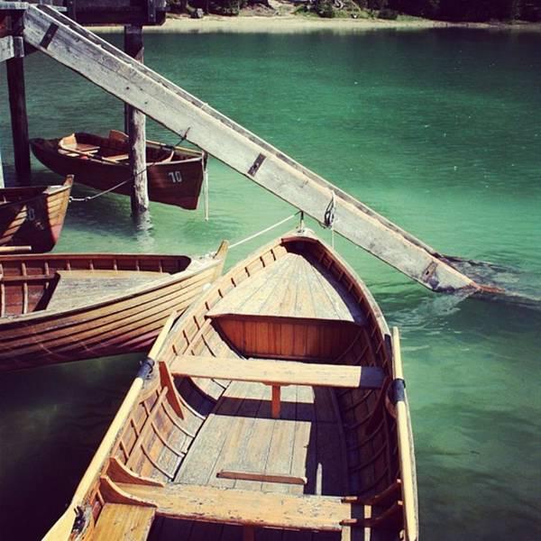 Green Photograph - Lake Of Braies - Alto Adige by Luisa Azzolini