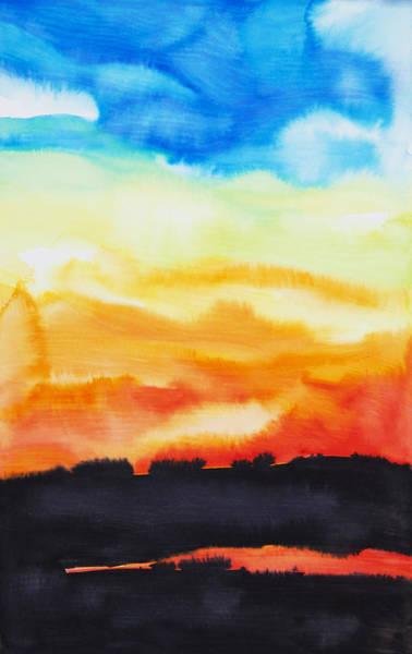 Tara Painting - Lake Of Fire by Tara Thelen
