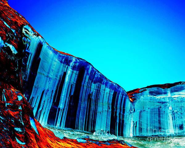 Desert Varnish Photograph - Lake Powell Blue Ice by Rebecca Margraf