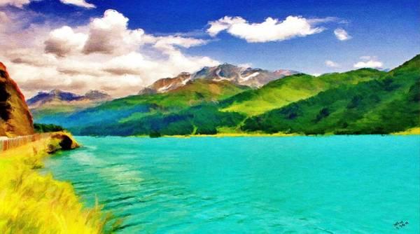 Painting - Lake Sils by Jeffrey Kolker