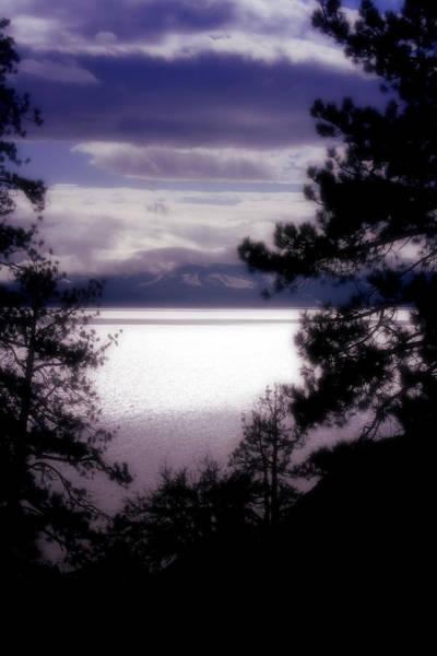 Silhoutte Photograph - Lake Tahoe Evening by Ellen Heaverlo