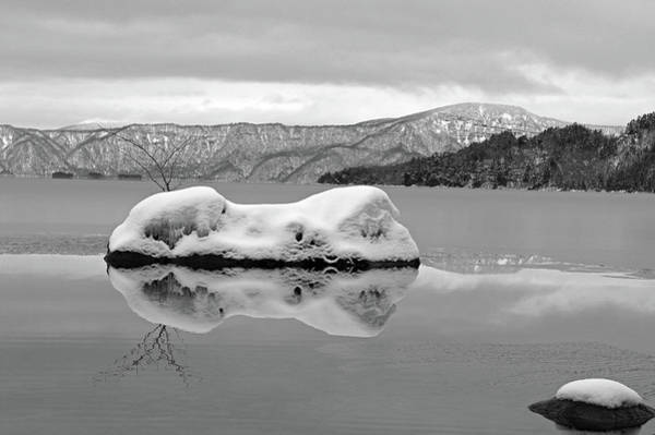 Horizontal Landscape Photograph - Lake Towada In Winter by The landscape of regional cities in Japan.