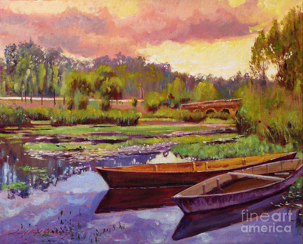 Painting - Lakeboats France by David Lloyd Glover