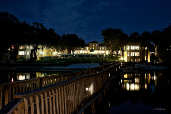 Photograph - Lakeside Inn At Night by Christopher Holmes