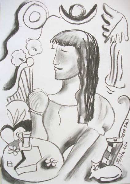 Laksmi Wall Art - Drawing - Laksmi - Drawing by Jelila