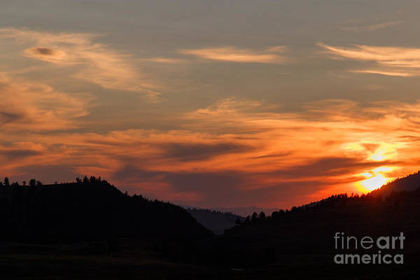 Photograph - Lamar Valley Sunset by Charles Kozierok