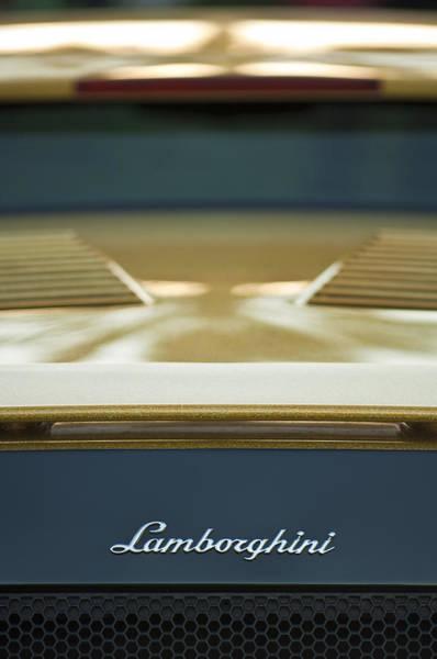 Photograph - Lamborghini Emblem 4 by Jill Reger