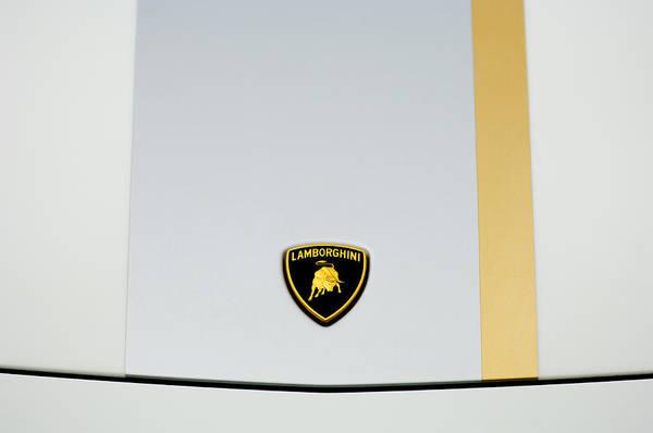 Photograph - Lamborghini Hood Emblem 2 by Jill Reger