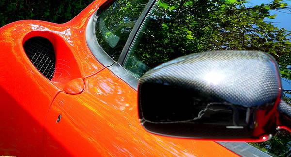 Photograph - Lamborghini Mirror And Intake by Jeff Lowe