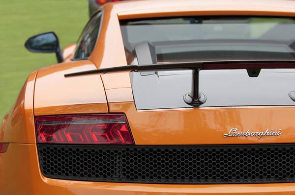 Photograph - Lamborghini Rear View 4 by Jill Reger