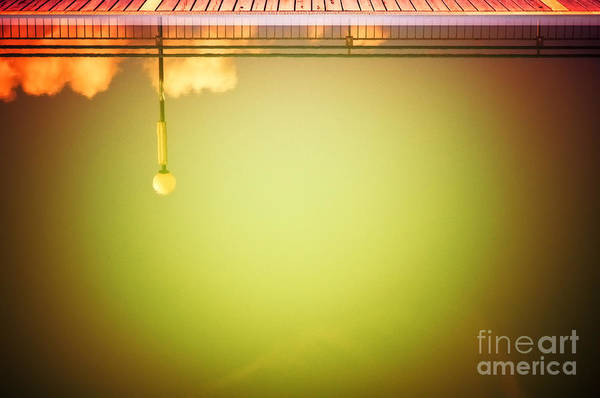 Wall Art - Photograph - Lamp And Clouds In A Swimming Pool by Silvia Ganora