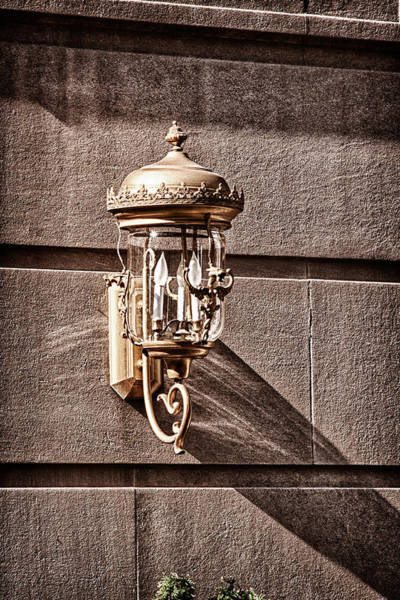 Photograph - Lamp On The Building Facade  by Val Black Russian Tourchin