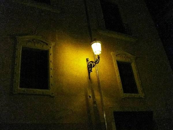 Photograph - Lamp Post At Night Granada Spain by John Shiron