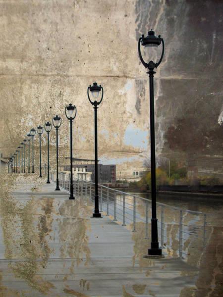 Digital Art - Lamp Posts And Concrete by Anita Burgermeister