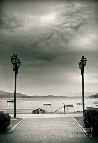 Photograph - Lamps On Lake by Silvia Ganora