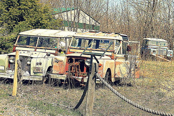 Photograph - Land Rovers by Doug Mills