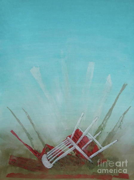 Chair Mixed Media - Landed by Paul OBrien