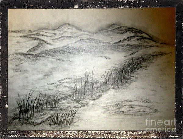 Abstract Expressionist Drawing - Landscape 50 by John Krakora