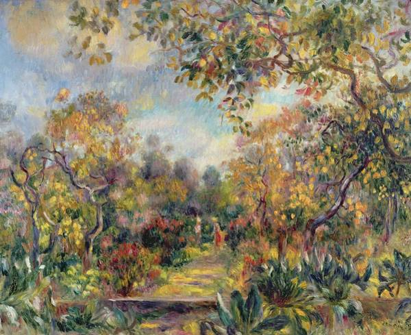 Paysage Wall Art - Painting - Landscape At Beaulieu by Pierre Auguste Renoir