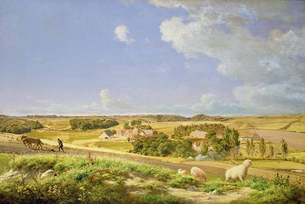 Plowing Painting - Landscape  by Johann Moller